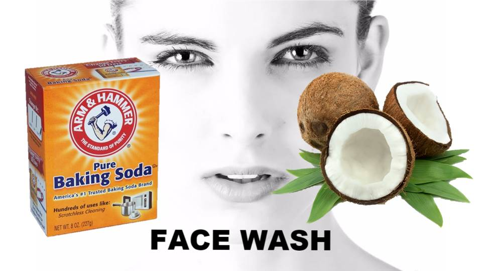 BAKING SODA AND COCONUT OIL FACEWASH