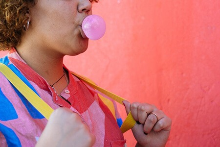 Stay away from chewing gum