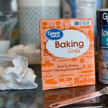 Baking soda can balance the ph of your feet and palms
