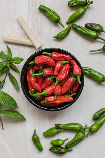 Capsaicin comes from chili peppers