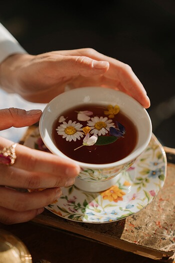 Chamomile tea has been used as an at-home medicinal treatment for injury
