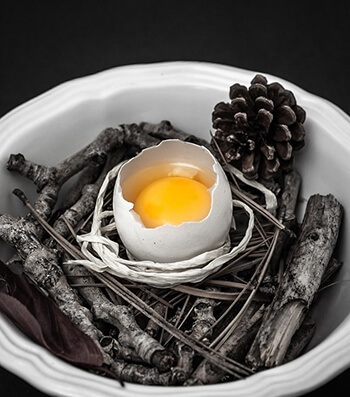 Eggs also contain potassium to preserve the moisture in skin cells