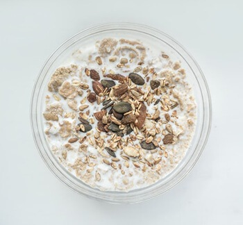 Get your protein fix by eating food rich in protein like oats