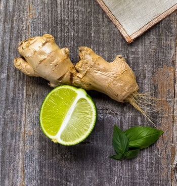Ginger has chemical compounds that help lungs function efficiently
