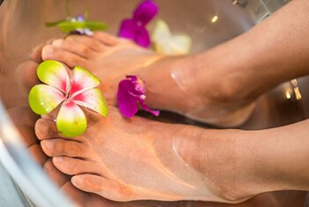 Give yourself a warm foot spa