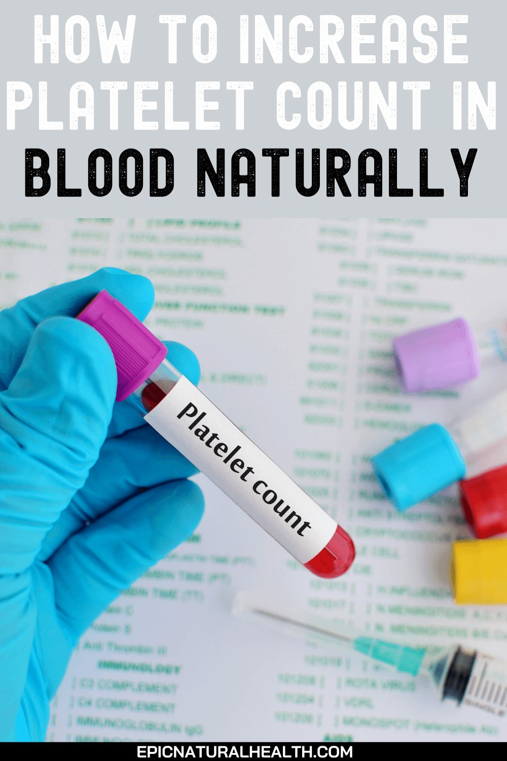 How to Increase Platelet Count in Blood Naturally