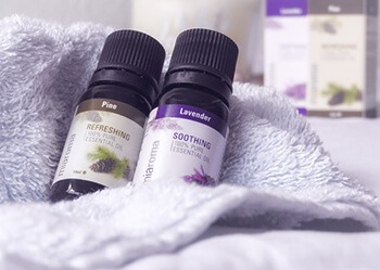 Lavender and peppermint are natural painkillers and muscle-relaxants
