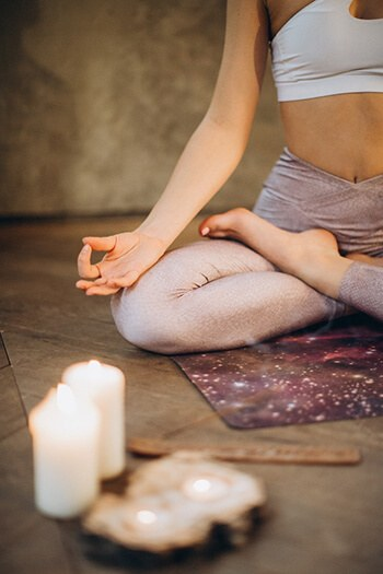 Meditation can help calm your body and reduce excessive sweating