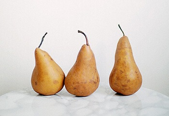 Pears are one of the best fruits for helping you to get rid of constipation fast