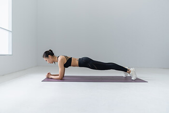 Plank pose stimulates a number of systems related to the immune system