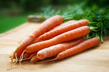 Vitamin A rich food like carrots are essential in the production of healthy platelets
