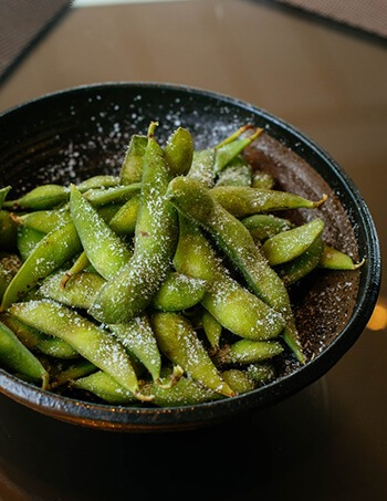 Edamame beans contains soy