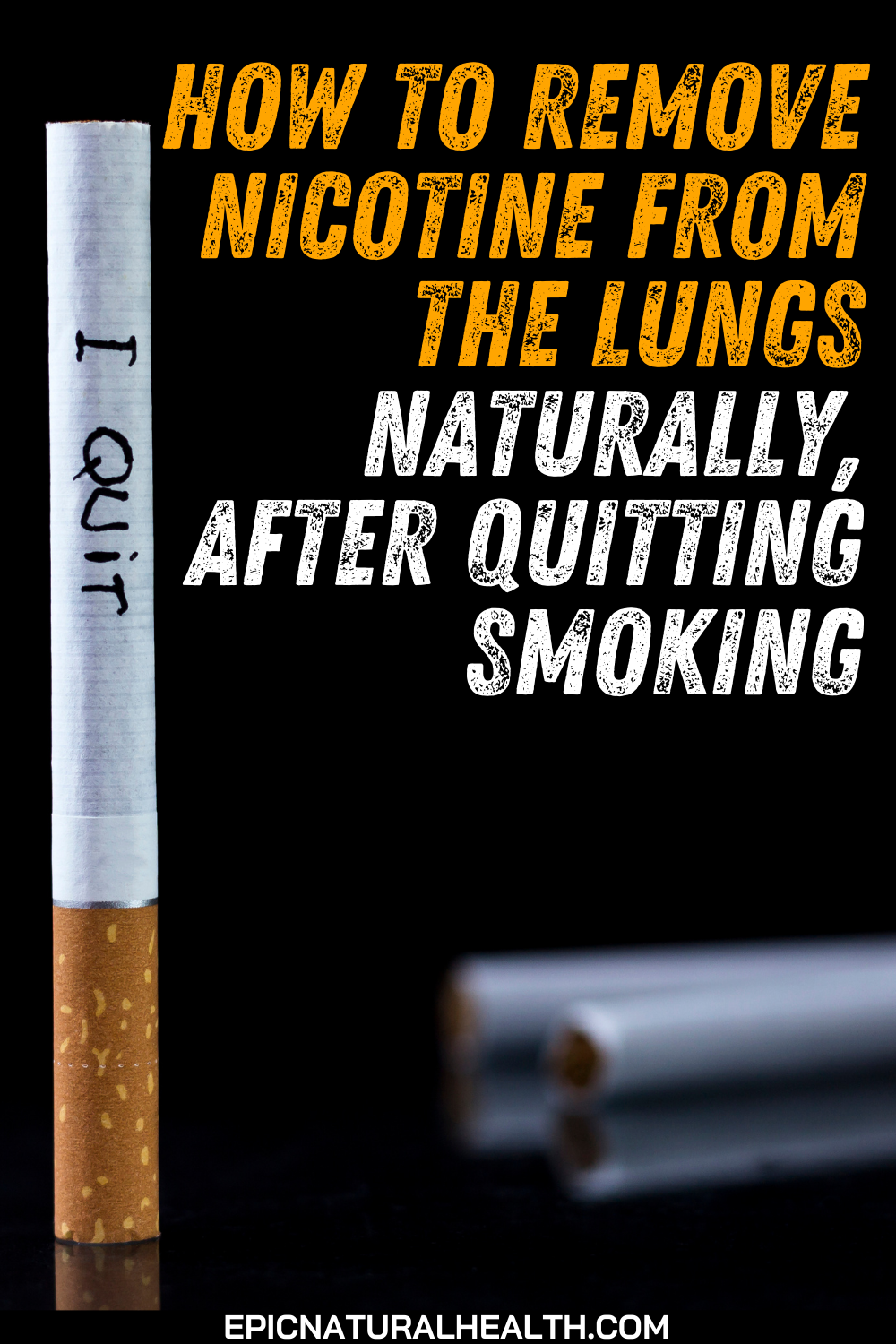 How to remove nicotine from the lungs naturally, after quitting smoking