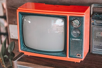 Older television screen are made of glass