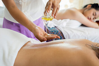 Using massage oil for massage