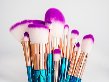 alcohol's disinfectant properties help clean makeup brushes