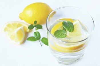 drink lots of water and try to add a squeeze of lemon