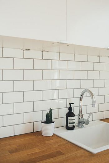Clean grout using toothbrush