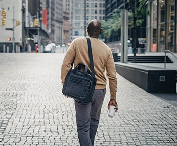Go for a walk during lunch breaks to shift excess weight