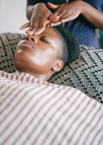 Massage around your eyes to reduce puffiness