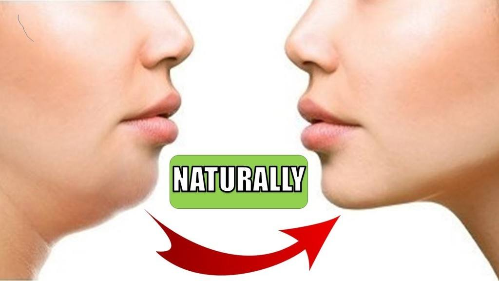 Natural ways to get rid of double chin