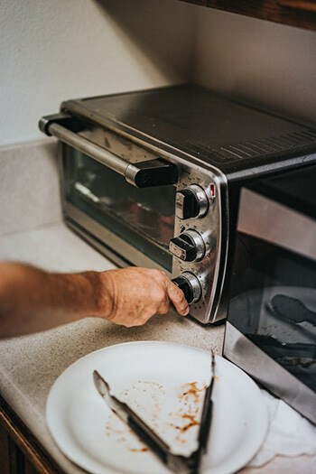 Use acetone to remove melted plastic in toasters