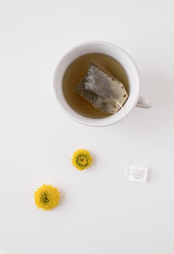 chilled camomile teabags can also function as a cold compress