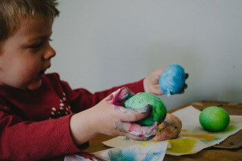 use play dough to remove glitters