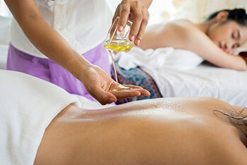 almond oil used in body massage