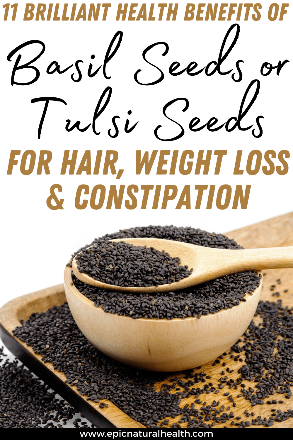 benefits of tulsi seeds for hair weight loss and constipation
