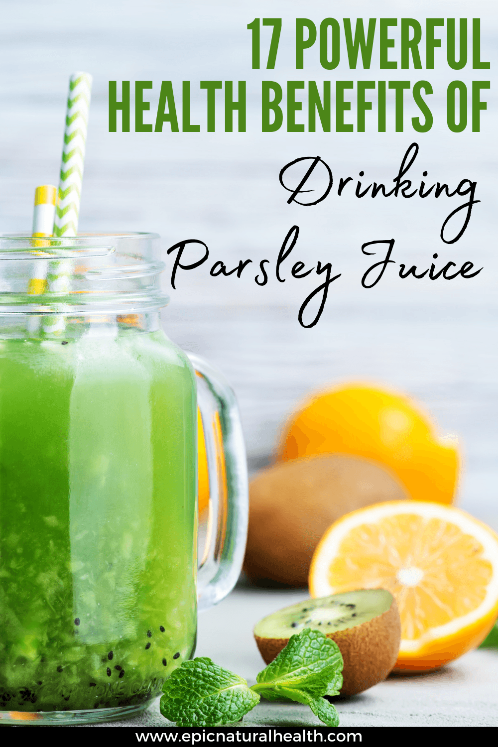 powerful benefits of drinking parsley juice