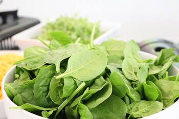 spinach are rich in iron