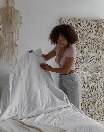 Get in the habit of making your bed in the morning as soon as you get out of it
