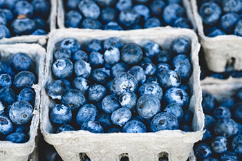 blueberries are rich in antioxidants that support hair growth