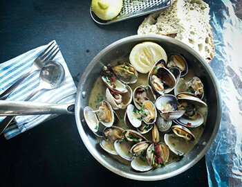 clams are rich in vitamin b12 that are great for hair growth and can reduce graying
