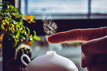 diffuse pine oil to reduce respiratory issues