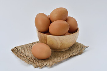 eggs are packed with hair-healthy vitamins