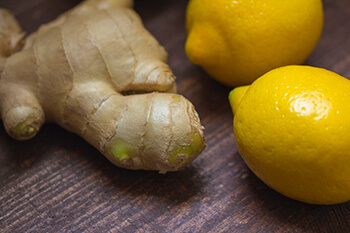 ginger and lemon for a refreshing detox drink