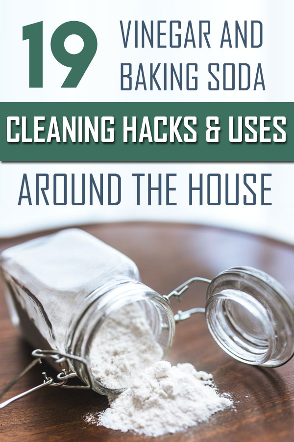 vinegar and baking soda cleaning hacks and uses