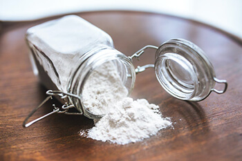 baking soda inside container
